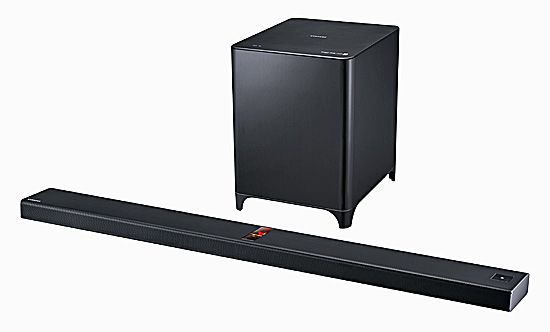 samsung premium soundbar hw f850 f r gro e fernseher i. Black Bedroom Furniture Sets. Home Design Ideas
